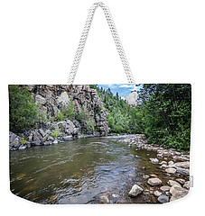 Weekender Tote Bag featuring the photograph The Pecos River by Margaret Pitcher