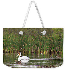 The Pelican And The Ducklings Weekender Tote Bag by Alyce Taylor
