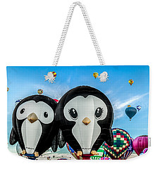 Puddles And Splash - The Penguin Hot Air Balloons Weekender Tote Bag
