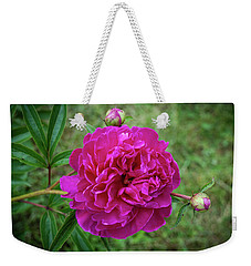 Weekender Tote Bag featuring the photograph The Peonie by Mark Dodd