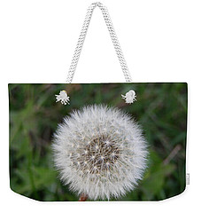 Weekender Tote Bag featuring the photograph The Perfect Dandelion by DeeLon Merritt