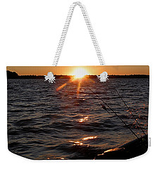 Weekender Tote Bag featuring the photograph The Perfect Ending - After A Good Day Of Fishing by Angie Rea