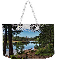 Weekender Tote Bag featuring the photograph The Perfect Fishing Spot  by Saija Lehtonen