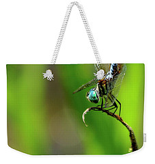 Weekender Tote Bag featuring the photograph The Performer Dragonfly Art by Reid Callaway