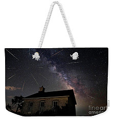 The Perseid Meteor Shower At Lower Fox Creek School  Weekender Tote Bag by Keith Kapple