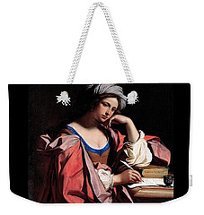 Weekender Tote Bag featuring the painting The Persian Sibyl by Pg Reproductions