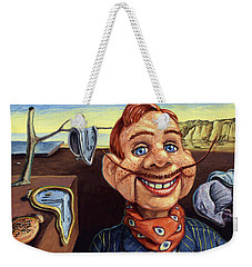 Weekender Tote Bag featuring the painting The Persistence Of Doody by James W Johnson