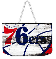 The Philadelphia 76ers 3e       Weekender Tote Bag by Brian Reaves