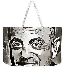 Weekender Tote Bag featuring the painting The Piano Man by Paul Van Scott