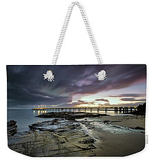 The Pier @ Lorne Weekender Tote Bag by Mark Lucey