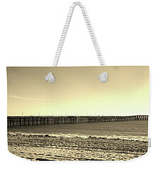 The Pier Weekender Tote Bag by Mary Ellen Frazee