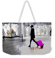 Weekender Tote Bag featuring the photograph The Pink Bag by LemonArt Photography