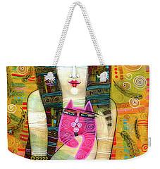 The Pink Cat Angel Weekender Tote Bag