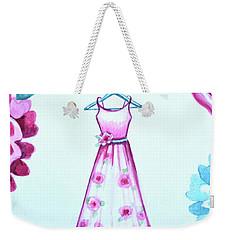 The Pink Floral Dress Weekender Tote Bag