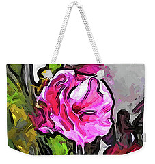 The Pink Flower With The Burgundy Buds Weekender Tote Bag
