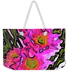 The Pink Flowers In The White Vase Weekender Tote Bag