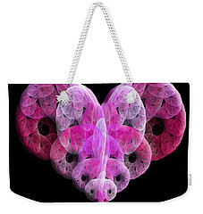 Weekender Tote Bag featuring the digital art The Pink Heart by Andee Design