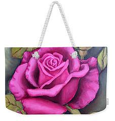 The Pink Rose Weekender Tote Bag by Inese Poga