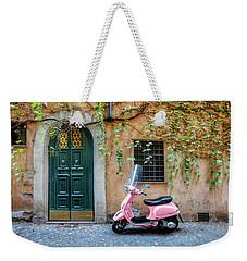 The Pink Vespa Weekender Tote Bag
