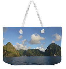 The Pitons Of Saint Lucia Weekender Tote Bag