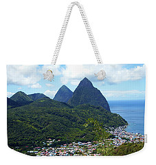 Weekender Tote Bag featuring the photograph The Pitons, St. Lucia by Kurt Van Wagner