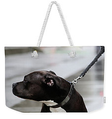 Weekender Tote Bag featuring the photograph The Pits Of Curbs  by Empty Wall