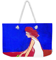 Weekender Tote Bag featuring the painting The Planting by Winsome Gunning
