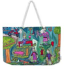 The Playground Weekender Tote Bag by Brandon Drucker