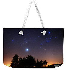 The Pleiades, Taurus And Orion Weekender Tote Bag
