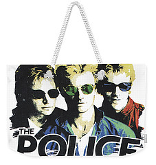 Weekender Tote Bag featuring the digital art The Police by Gina Dsgn