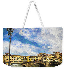 The Ponte Vecchio Bridge Weekender Tote Bag by Wade Brooks