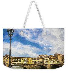 The Ponte Vecchio Bridge Weekender Tote Bag