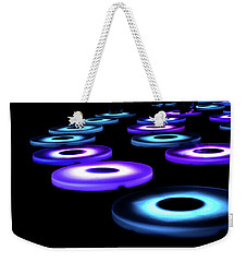 Weekender Tote Bag featuring the photograph The Pool Circles by Mark Dodd