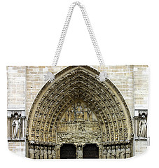 The Portal Of The Last Judgement Of Notre Dame De Paris Weekender Tote Bag