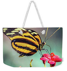 Weekender Tote Bag featuring the photograph The Postman Longwing  by Saija Lehtonen