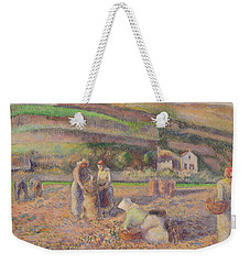 The Potato Harvest Weekender Tote Bag by Camille Pissarro