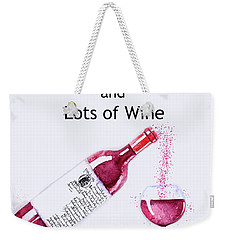 Weekender Tote Bag featuring the mixed media The Pour by Colleen Taylor
