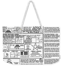 The Power Of The Golden Section Weekender Tote Bag