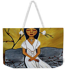 The Power Of The Rosary Religious Art By Saribelle Weekender Tote Bag