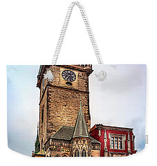 The Prague Clock Tower Weekender Tote Bag