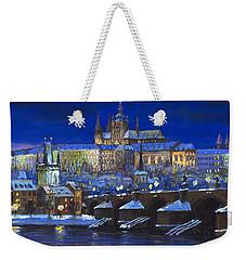 The Prague Panorama Weekender Tote Bag