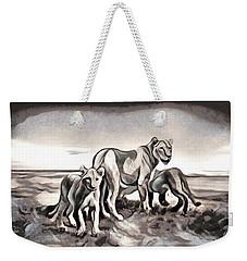 Weekender Tote Bag featuring the digital art The Pride by Pennie McCracken