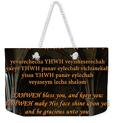 The Priestly Aaronic Blessing Weekender Tote Bag
