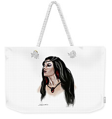 Weekender Tote Bag featuring the painting The Princess Morgana by James Christopher Hill