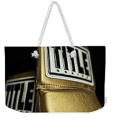 Title Boxing Gloves Weekender Tote Bag