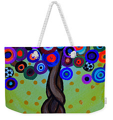 Weekender Tote Bag featuring the painting The Prolific Tree by Pristine Cartera Turkus
