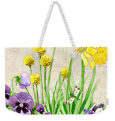 The Promise Of Spring - Dragonfly Weekender Tote Bag by Audrey Jeanne Roberts