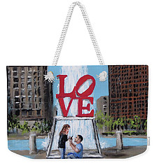 Weekender Tote Bag featuring the painting The Proposal by Jack Skinner