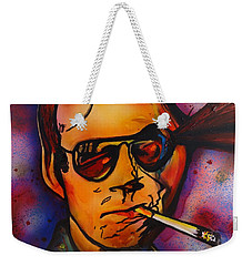The Psycho-delic Suicide Of The Tambourine Man Weekender Tote Bag