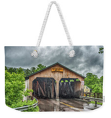 Weekender Tote Bag featuring the photograph The Pulp Mill Bridge by Guy Whiteley